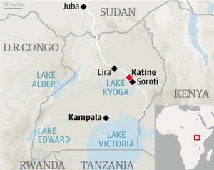 Route map of new northern Uganda road | Katine | The Guardian