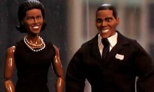 Barack and Michelle Obama action figures