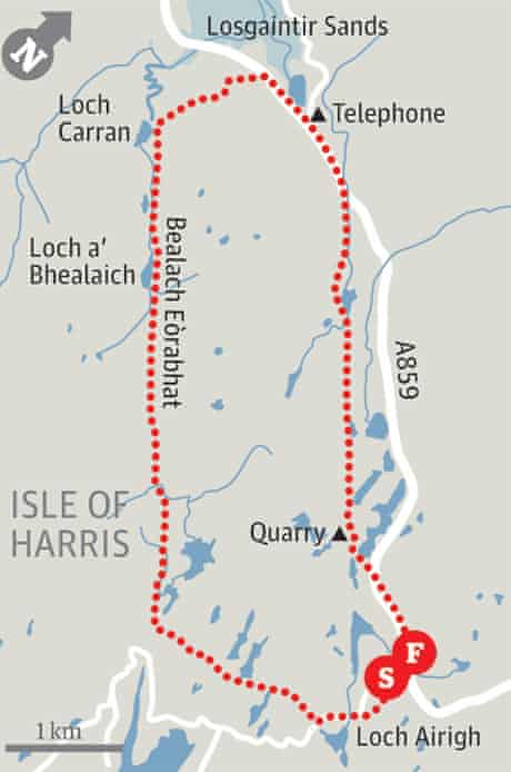 Loch Airigh map
