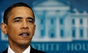 Barack Obama speaks at a news conference