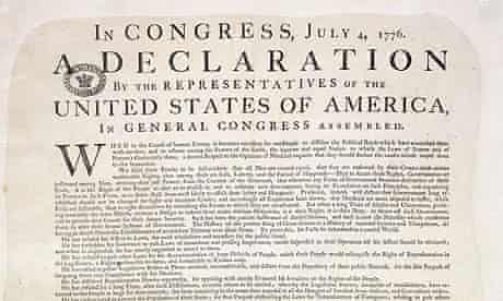 A rare copy of the US Declaration of Independence was found at the National Archives in Kew in Richmond, Surrey