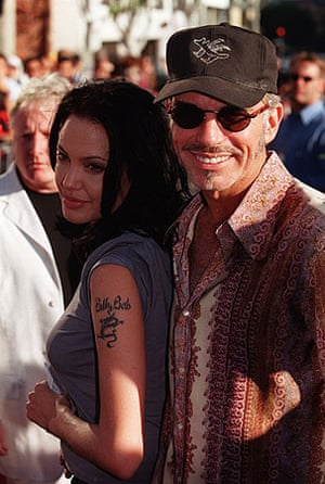 "Among the many regrets Angelina Jolie had in her marriage with Billy Bob Thornton was tattooing his name on her arm. She got the ink erased after they broke up. ""I'll never be stupid enough to have a man's name tattooed on me again,"" the actor said"