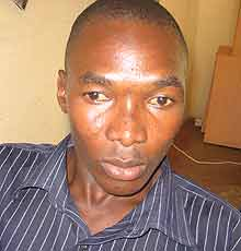 Katine resident, and football fan, Denis Oriokot