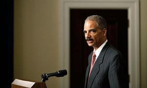 The US attorney general, Eric Holder, will order a special criminal investigation into CIA interrogation methods. Photograph: : Chip Somodevilla/Getty