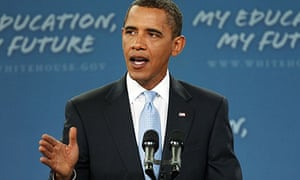Barack Obama delivers a speech on education at Wakefield High School in Arlington, Virginia