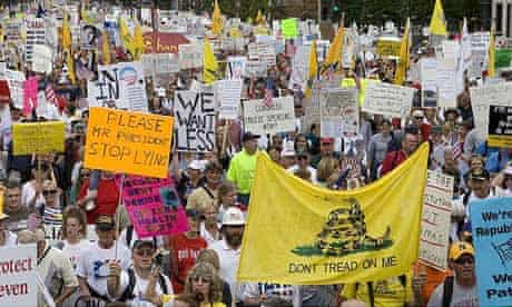 Demonstrators protest Obama's healthcare reform plan