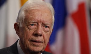 Jimmy Carter, former US president, said much of the opposition to Barack Obama 'is  based on the fact that he is a black man'.