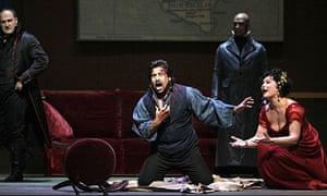 Marcelo Alvarez and Karita Mattila star in Tosca at the Metropolitan Opera in New York.