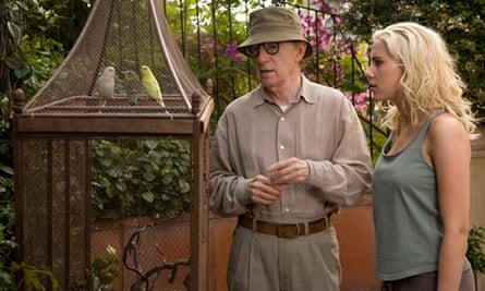 Woody Allen on the set of Vicky Cristina with Scarlett Johansson