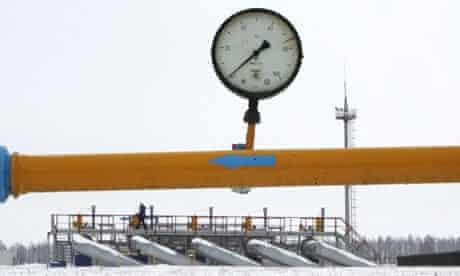 Gas measuring station Sudzha in Russia