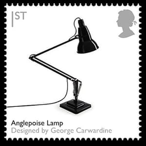 British design stamps: Anglepoise lamp