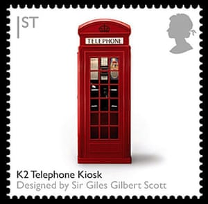 British design stamps: K2 telephone kiosk