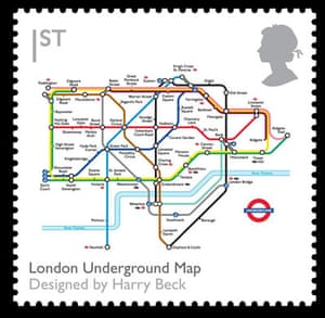 British design stamps: London Underground Map