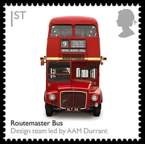 British design stamps: Routemaster bus