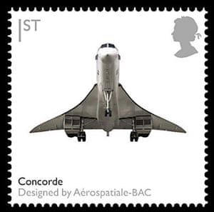 British design stamps: Concorde