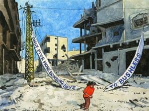 15.01.09: Steve Bell on the bombing of Gaza