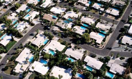 California, Palm Springs, the biggest concentration of swimming pools of all the country