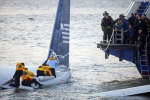 Gallery Hudson river plane crash: Passengers are rescued from a US Airways plane