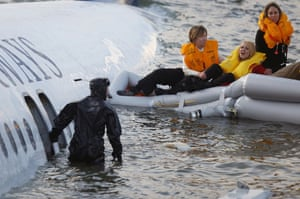 Gallery Hudson river plane crash: Passengers are rescued after a US Airways plane landed in the Hudson River