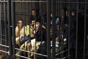 Gallery Meredith Kercher trial: Journalists covering the trial sit in a cage normally meant for prisoners