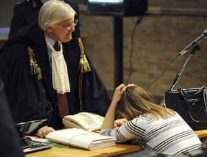 Gallery Meredith Kercher trial: Murder suspect Amanda Knox speaks with her lawyer