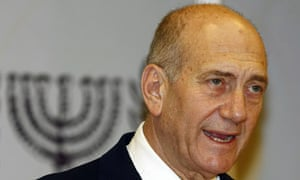 Ehud Olmert addresses Israeli citizens on TV