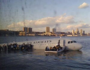 Gallery US Airways plane crash: Janis Krum's picture of passengers leaving the plabe