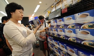 Shanghai shoppers at the first Marks and Spencer in mainland China