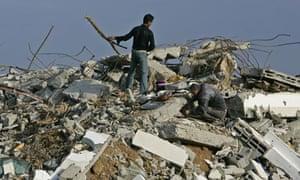 Gaza Zeitoun Israel Salmi destruction