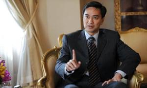 Thai prime minister Abhisit Vejjajiva