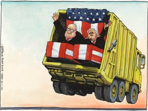 20.01.09: Steve Bell on the end of Bush and Cheney