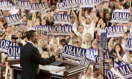 Barack Obama delivers speech at 2004 Democratic National Convention
