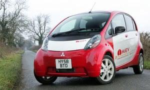 Mitsubishi's i-MiEV electric car