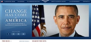 New White House web site