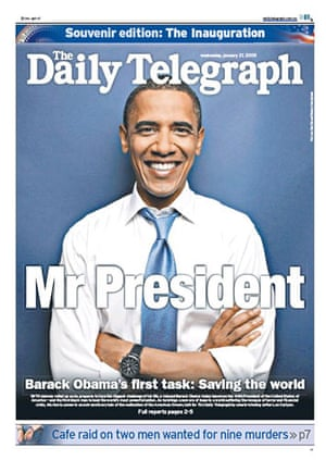 Gallery Obama world front pages: Australia Telegraph