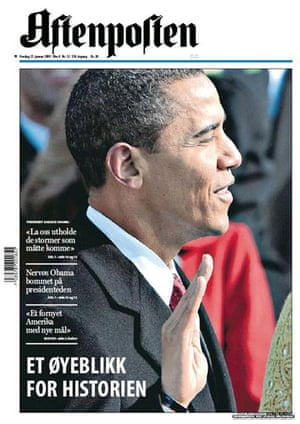 Gallery Obama world front pages: Norway Aftenposten