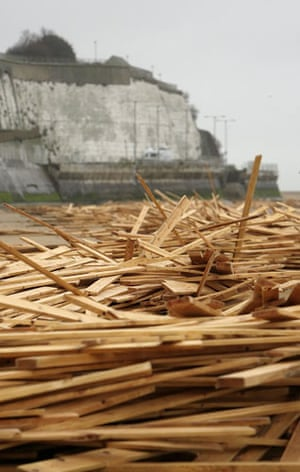 Gallery Timber galore: Timber washed ashore near Ramsgate in Kent