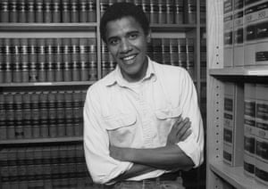 Gallery 1990s recession: Barack Obama as a student at Harvard University Law School in 1990
