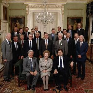 Gallery 1990s recession: Margaret Thatcher's Cabinet