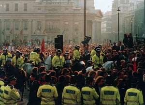 Gallery 1990s recession: Poll tax riots