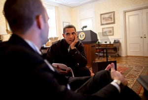 Gallery Obama: the new president: Barack Obama and Jon Favreau