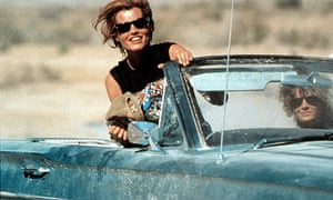 Thelma and Louise in their Ford Thunderbird Convertible