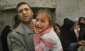 Relatives mourn a Palestinian man killed by Israeli soldiers in Gaza