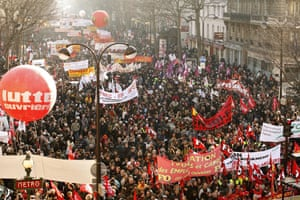 Gallery France's Unions Strike: France's trade-unions encourage their employees to strike