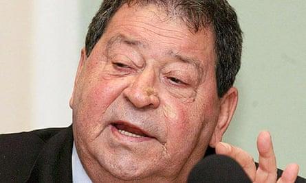 Former Israeli defence minister Benjamin Ben Elizer