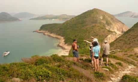 Hiking in Sai Kung national park, Hong Hong