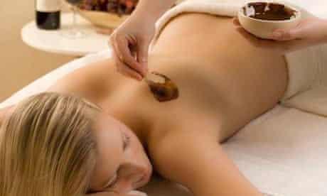 Chocolate massage at Villa Lucia, Tuscany