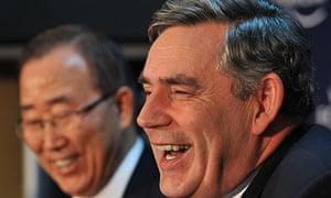 Gordon Brown and Ban Ki-moon at Davos