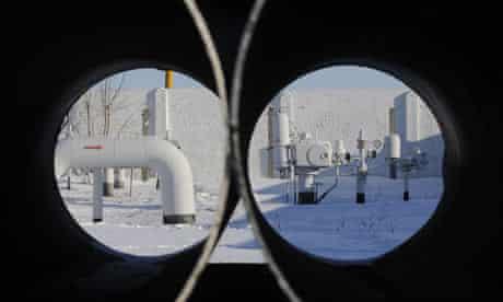 A gas pipeline from Russia in Kiev