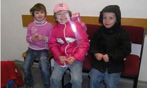 Anna-Bell, Anna-Lena and Mika in police custody at the main railway station in Hanover